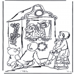 Coloriages pour enfants - Théâtre de guignol