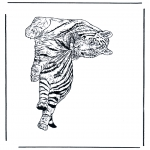Coloriages d'animaux - Tigre 1