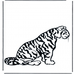 Coloriages d'animaux - Tigre 2