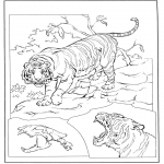 Coloriages d'animaux - Tigre 3