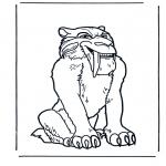 Coloriages d'animaux - Tigre à dents de sabre