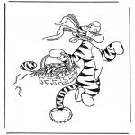 Coloriage thème - Tigrou 'lièvre de Pâques'