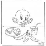 Personnages de bande dessinée - Titi mange
