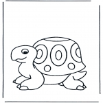 Coloriages d'animaux - Tortue