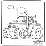 Coloriages faits divers - Tracteur
