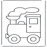 Coloriages pour enfants - Train