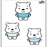 Coloriages pour enfants - Trois ours