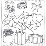 Bricolage coloriages - Trouve les cadeaux