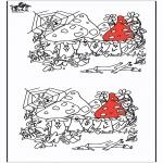 Bricolage coloriages - Trouver les 10 différences - Automne
