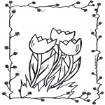 Coloriages faits divers - Tulipes