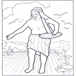 Coloriages Bible - Un semeur