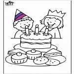 Coloriage thème - Urodziny 3