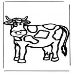 Coloriages d'animaux - Vache 1