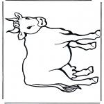 Coloriages d'animaux - Vache 2