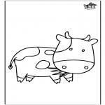 Coloriages d'animaux - Vache 3