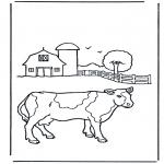 Coloriages faits divers - Vache