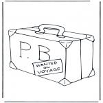 Coloriages pour enfants - Valise Paddington
