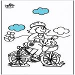 Coloriages faits divers - Vélos 2