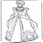 Coloriages faits divers - Vêtements médiévaux