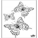 Coloriages d'animaux - Vlinder 5