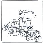Coloriages pour enfants - voitures de Bob