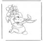 Winnie l'Ourson lievre de Pâques