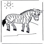 Coloriages d'animaux - Zèbre